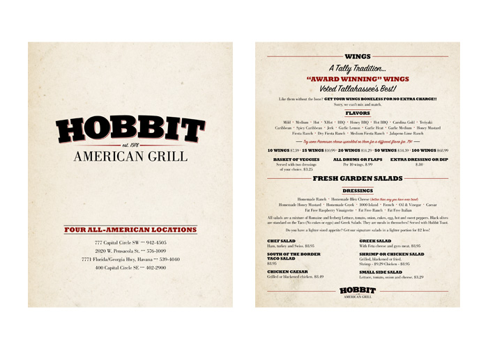 Hobbit American Grill Random Pattern Graphic Design