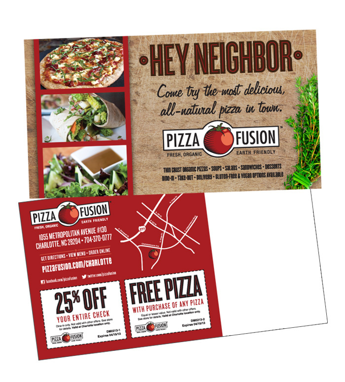 Pizza Fusion Direct Mail